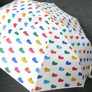 NWT Dooney & Bourke Multi Duck Umbrella M/Color